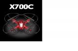 Радиоуправляемый квадрокоптер с камерой HD MJX X700C