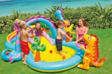 Надувной игровой центр бассейн с горкой Диноленд 333х229х112см от 3лет